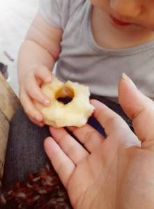 S giving me His apple